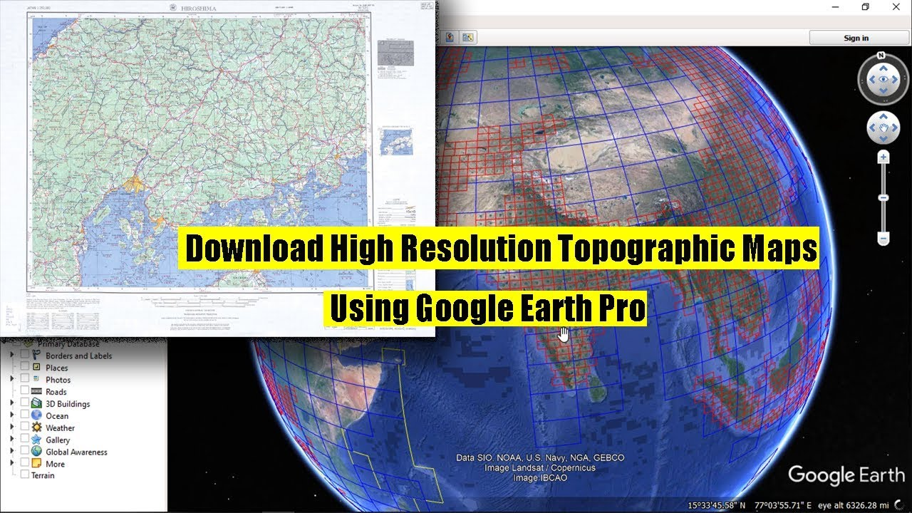 How To Download High Resolution Topographic Maps Using Google Earth Download Maps From Google on