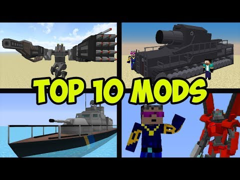 Top 10 Minecraft Mods  - WEAPONS AND WAR MODS (2020)