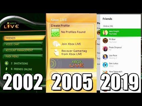 Xbox LIVE Evolution 2002-2019 (Xbox Original, Xbox 360, One)