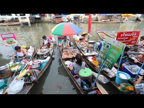 Thai FLOATING MARKET Street Food Tour With Mark Wiens!