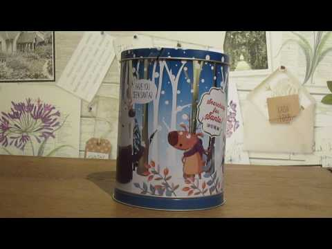 Musical Christmas Biscuit Tin -  Aldi