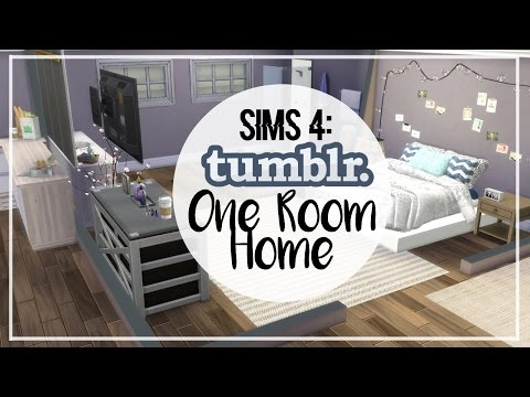 The Sims 4: Speed Build | Tumblr One Room Home