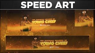 Full Rebrand for Young Cheef - SpeedArt by BTR Designs