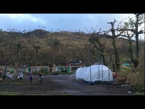 Scenes of devastation in Boston, Davao Oriental, Mindanao, Philippines