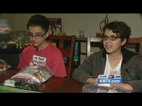 Omaha siblings make 'kindness bags' for homeless