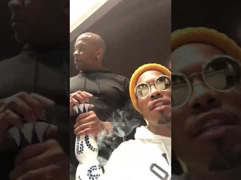 Dr. Dre shouts out Eminem while being in studio with .Paak (May 25, 2018)