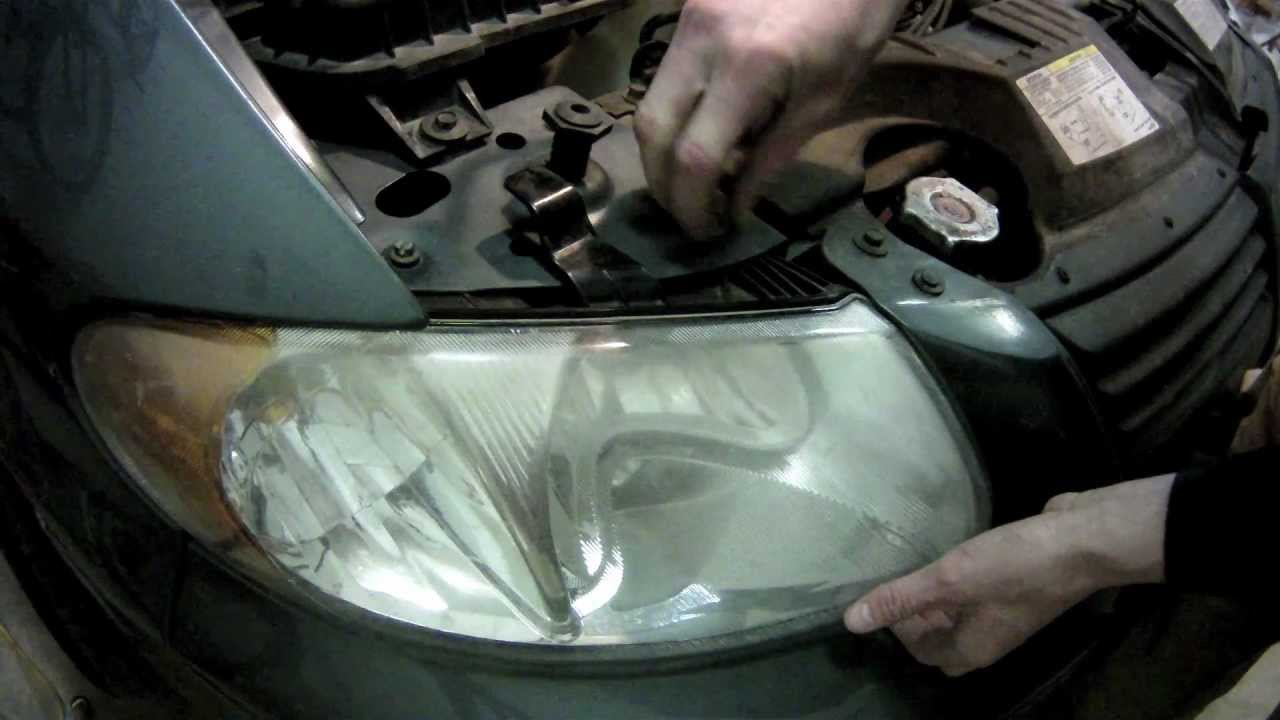 How To Install Headlight Bulbs In A Dodge Caravan