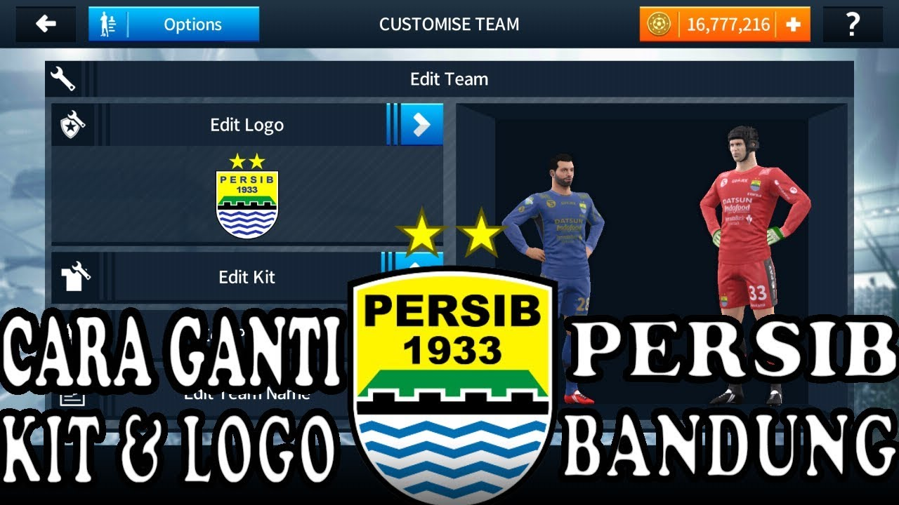 Cara Ganti Kit & Logo Dream League Soccer 2018