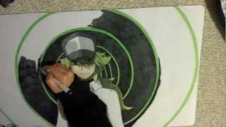 N (from Pokemon Black and White) Playmat Speed Drawing