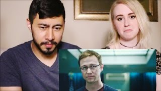 SNOWDEN | Official Comic-Con Trailer | Reaction by Jaby & Gwen!