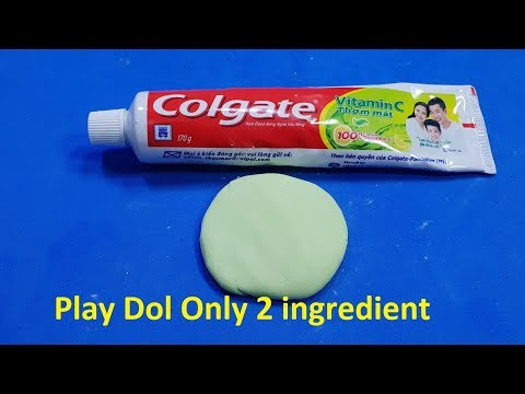 How To Make Play Dol With Toothpaste and Cornstarch