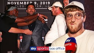 Logan Paul rewatches KSI's SHOVE and reacts to heated final press conference!