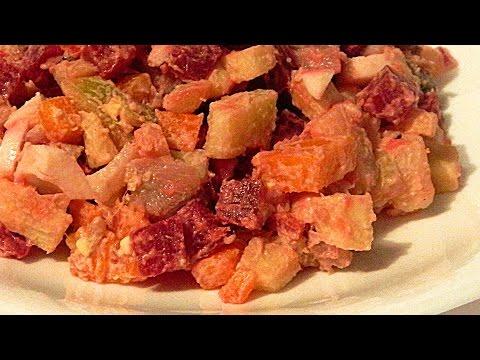 салат шуба пошаговый рецепт с яблоками