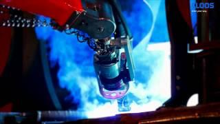 Сварочный робот CLOOS для сварки тяжелой техники(Сварочный робот CLOOS для сварки крупногабаритных частей тяжелой техники, частей весом 5 тонн. Используются..., 2012-10-13T08:17:01.000Z)