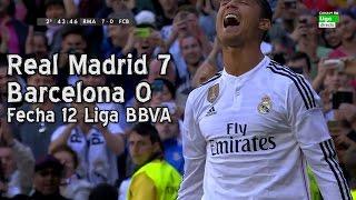 Real Madrid 7 Barcelona 0 - Liga BBVA Fecha 12 (Parodia)(Tremenda goleada en el Bernabeu. Barcelona no pudo ante un aplastante Real Madrid que se fue aplaudido por su público., 2015-11-28T20:20:02.000Z)