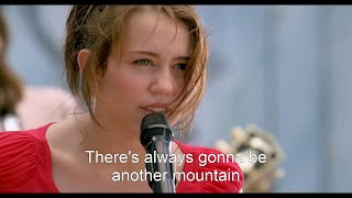 Repeat youtube video [HD] Miley Cyrus - The Climb (Hannah Montana The Movie) [Lyrics On Screen]