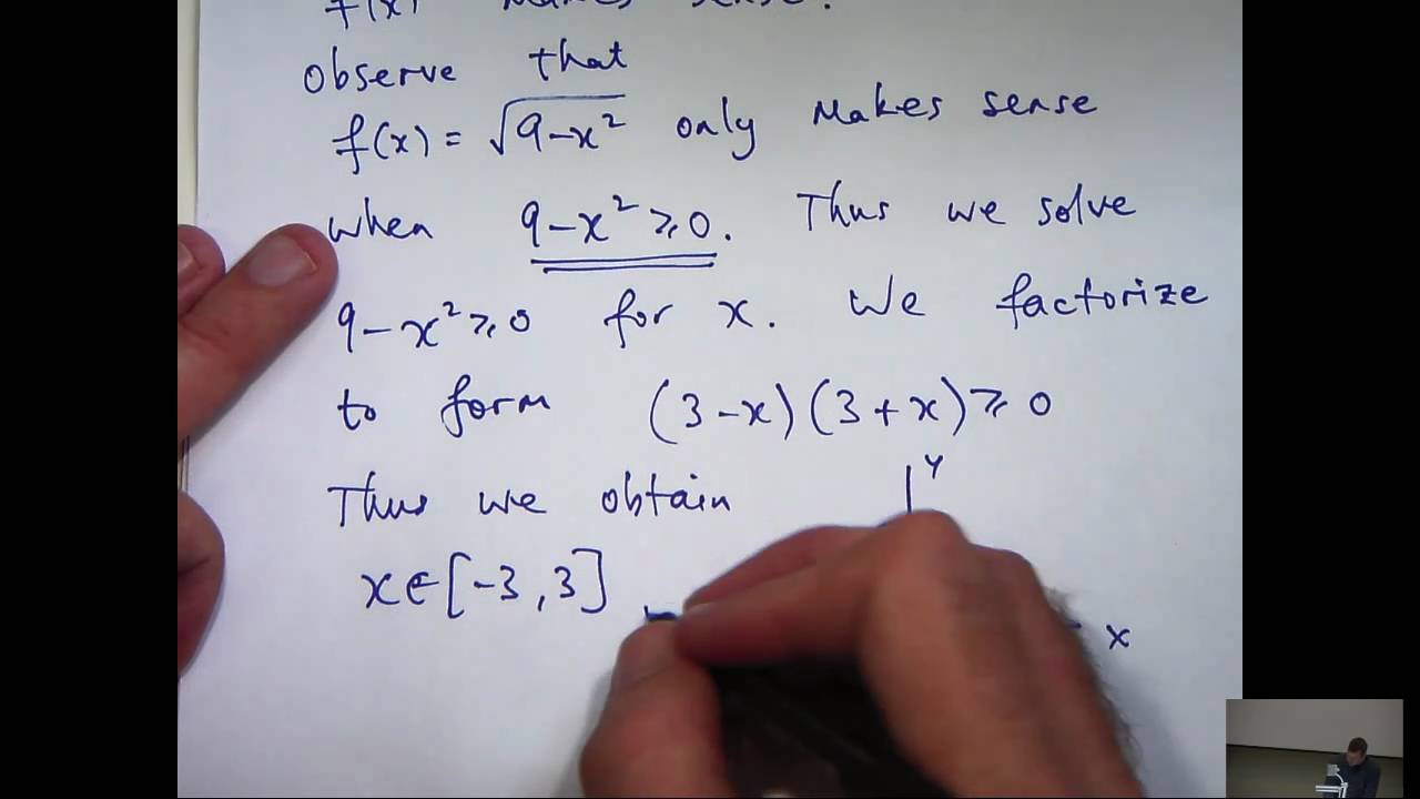 Domain and range of a function tutorial - YouTube