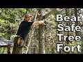 Building A Tree Fort In Grizzly Bear Territory Day 13 of 30 Day Survival Challenge Canadian Rockies