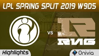 IG vs RNG Highlights Game 3 LPL Spring 2019 W9D5 Invictus Gaming vs Royal Never Give Up LPL Highligh