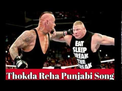 Thokda Reha Punjabi WWE Funny Song | Brock lessnor Vs Undertaker.