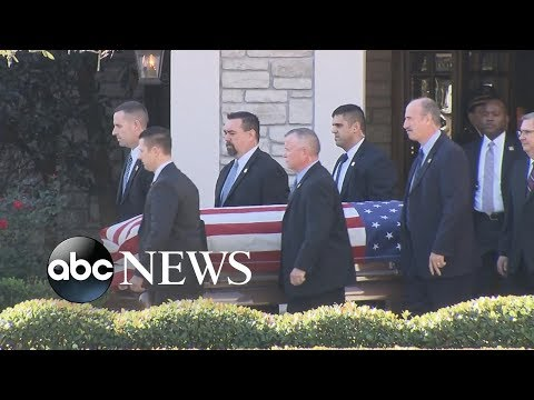 George H.W. Bush's casket transported to Air Force One for DC flight