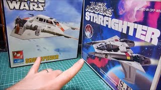 Resin pilot figures for the MPC AMT Snowspeeder and Monogram Starfighter