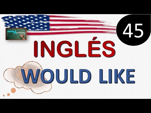 Curso de Ingles - LECCION 45 (WOULD LIKE - Polite English) - Como usar would like