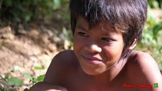 Primitive Technology - Eating delicious - Awesome cooking big fish