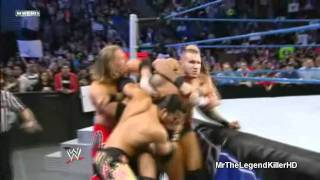WWE Smackdown 01/27/12 Randy Orton Returns And Attacks Wade Barrett (HD).