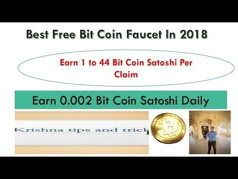 Earn 100000 Bitcoin Satoshi Daily|Earn Free 1 to 44 Satoshi Per Claim|Best Bitcoin Free Faucet|