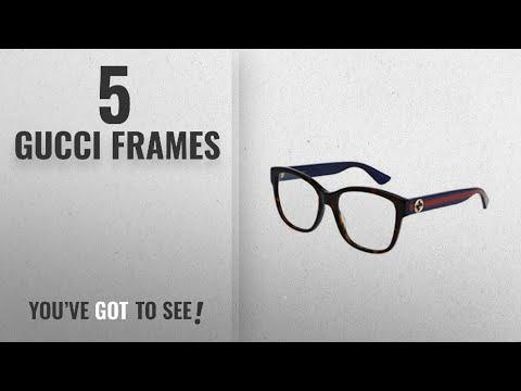 Top 10 Gucci Frames [2018]: Optical frame Gucci Optyl Dark Havana - Glitter Blue (GG0038O 003)