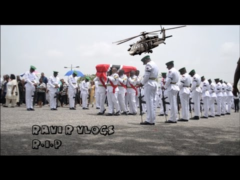 TRINIDAD AND TOBAGO ARMY FUNERAL (very sad)