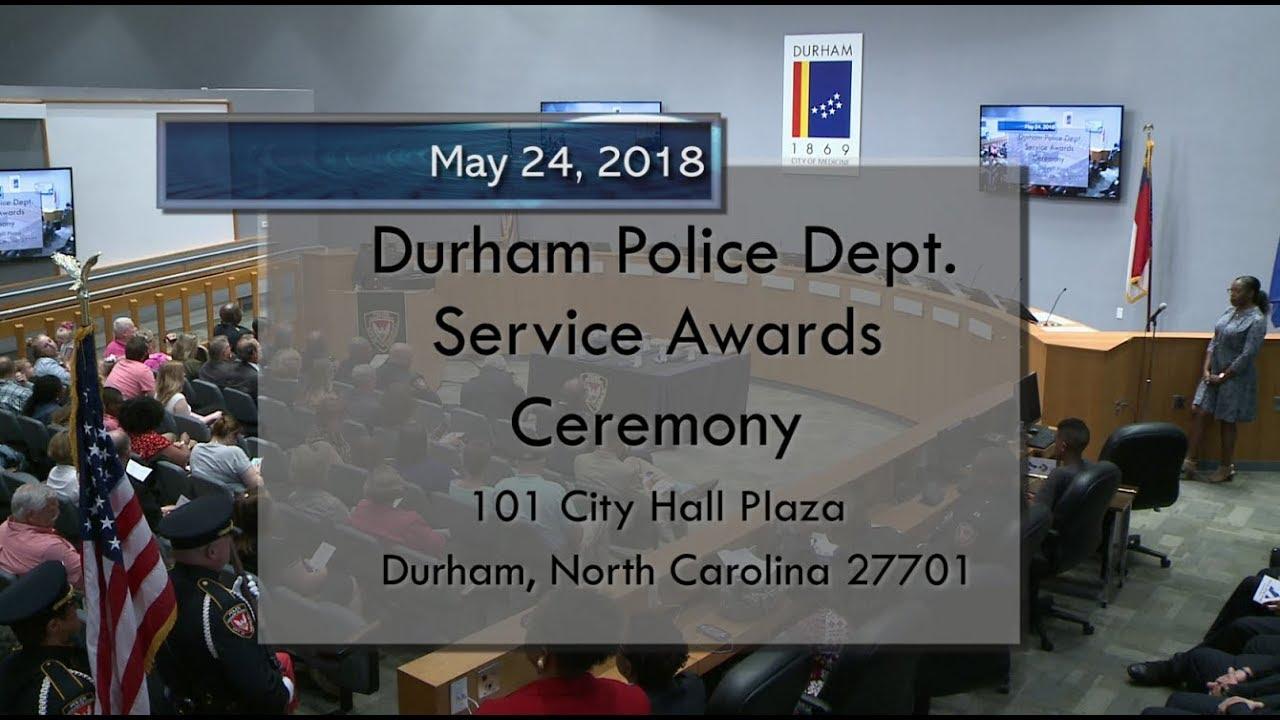 2018 Durham Police Service Awards Ceremony Youtube