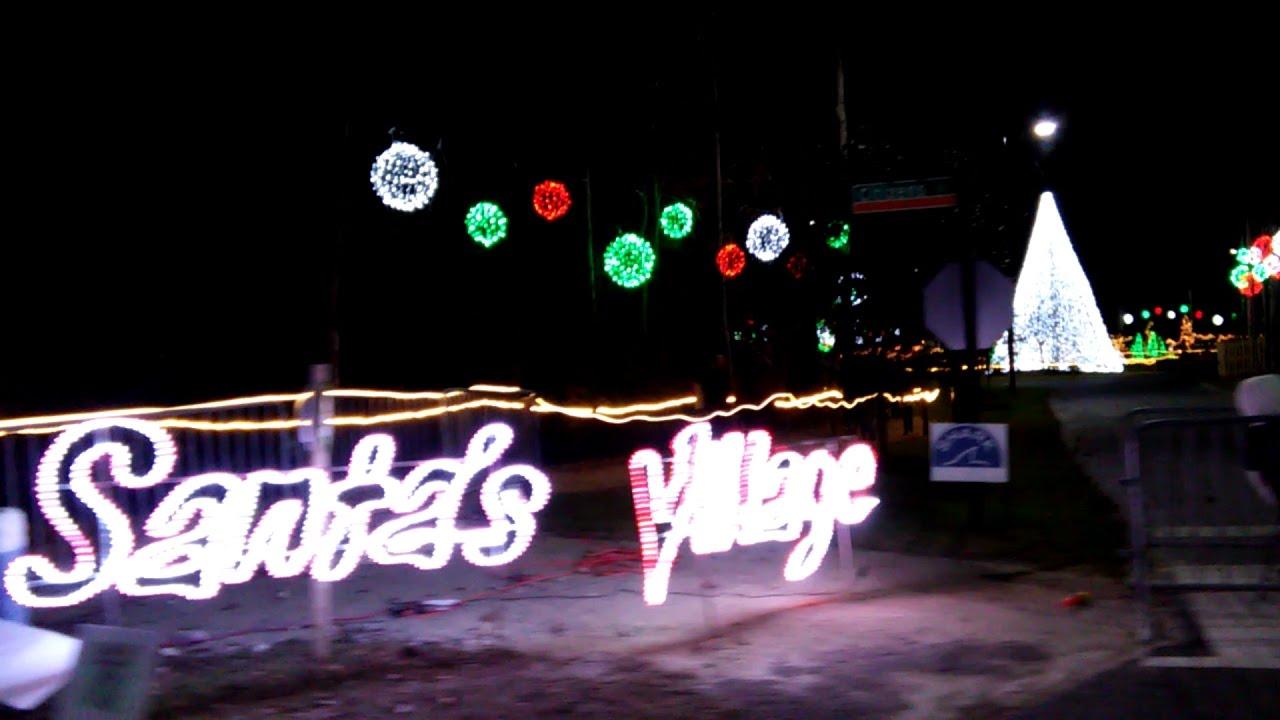 north myrtle beach christmas light show santas village 2016