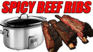 Today we are cooking spicy beef ribs in the slow cooker aka. crock pot. This recipe is amazing and man o man will this make you feel all warm inside. We got our ...
