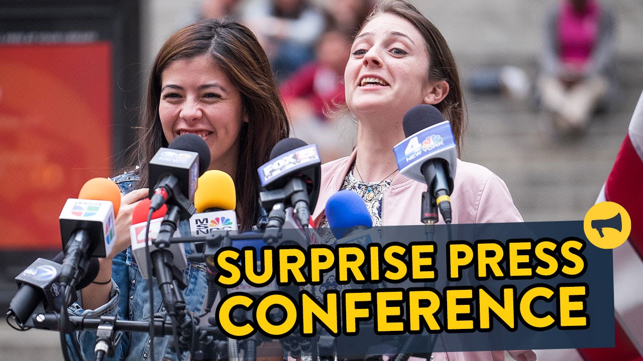 Surprise Press Conference Prank