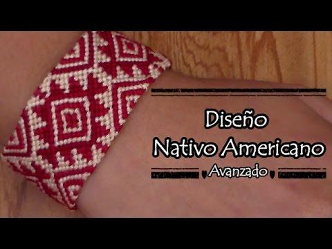 f40a3271086d Pulsera de Hilo: Diseño Nativo Americano