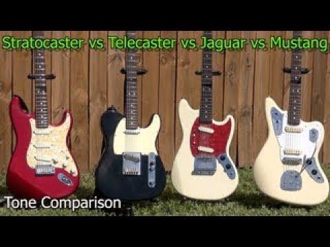 fender stratocaster vs telecaster vs jaguar vs mustang guitar tone and sound comparison youtube. Black Bedroom Furniture Sets. Home Design Ideas