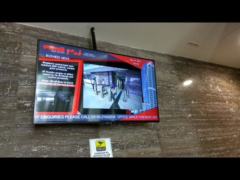 Digital Signage for Corporate Lift Lobby