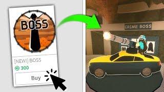 BUYING THE *NEW* BOSS GAMEPASS IN JAILBREAK! (Roblox)