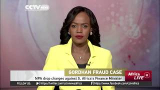Fraud charges dropped against South Africa's Finance Minister Gordhan