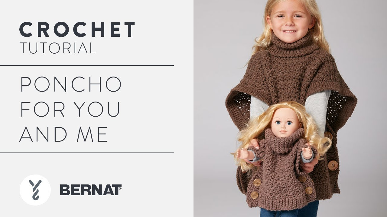 Crochet a Poncho: Poncho for You and Me - YouTube