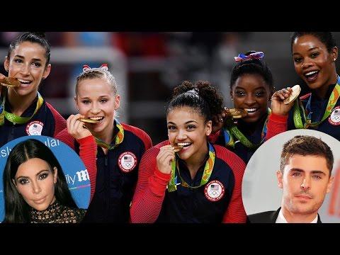 Celebs React to EPIC USA Women's Gymnastics Team Gold Medal at Rio Olympics 2016