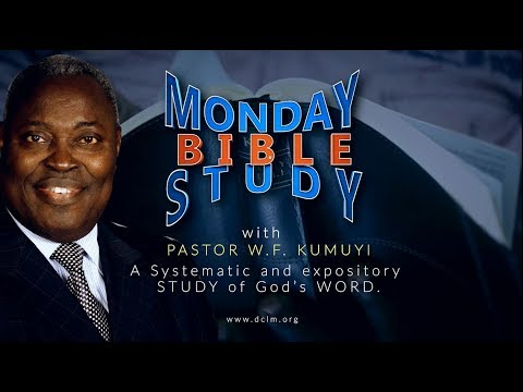Monday Bible Study (11th December, 2017)