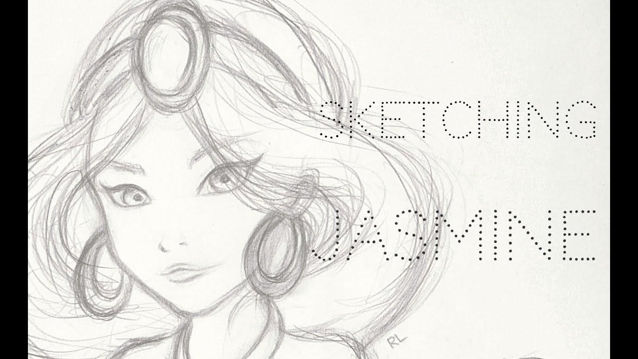 Jasmine sketching process ☔