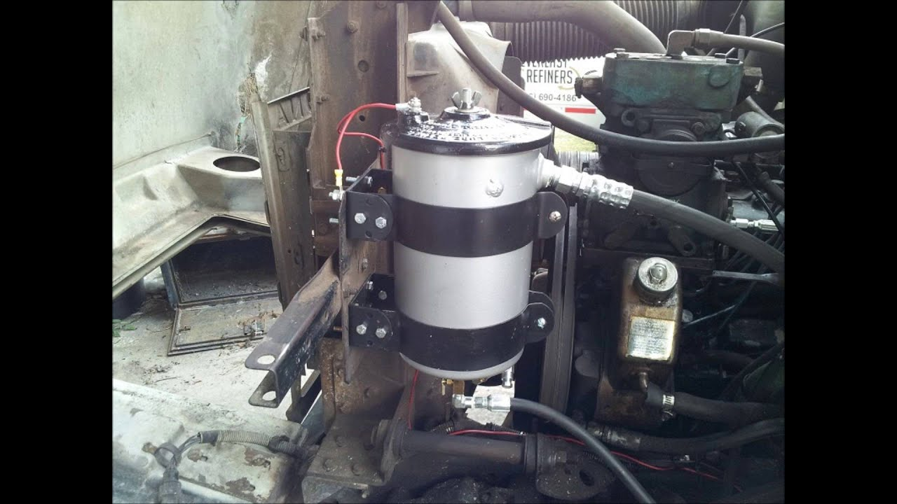1982 International 1900 Truck With Dt466 Engine Bypass Oil Filter System Installation