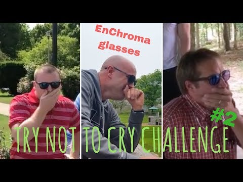 TRY NOT TO CRY CHALLENGE #2, EnChroma glasses