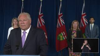 Premier Ford provides a COVID-19 update | August 6 YouTube Videos