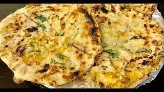घर के तवा पर झटपट बनाये बिना तन्दूर ढाबा स्टाइल आलू पनीर कुल्चे| Amritsari aloo paneer kulcha recipe