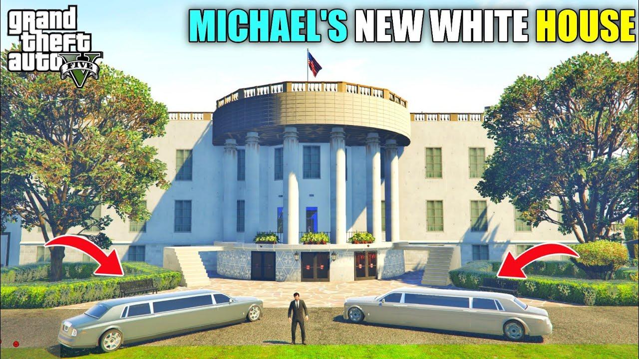 GTA 5 : MICHAEL PRESIDENT'S NEW MILLION DOLLAR WHITE HOUSE || BB GAMING